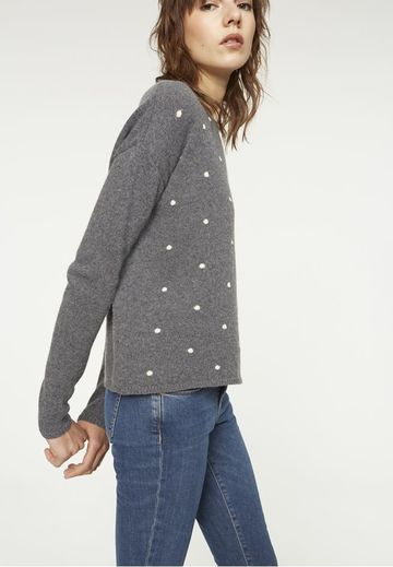 Evina dots sweater | mid grey melange