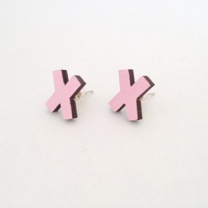 XXX earrings | pink