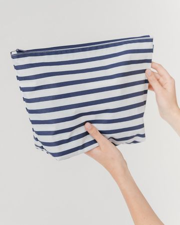 Carry all Pouch L sailor stripe