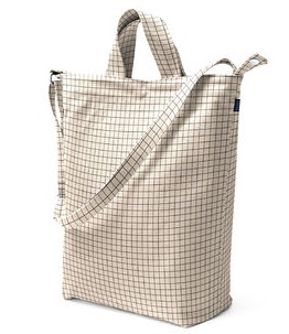 Duck Bag | natural grid
