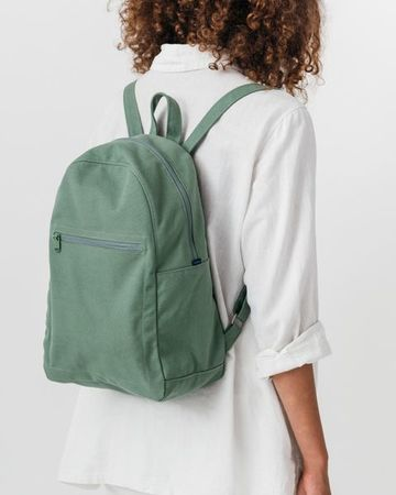 Zip backpack olive