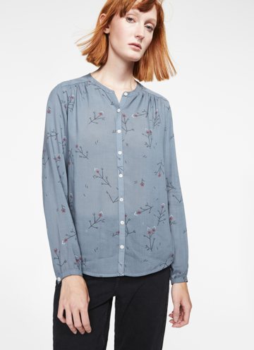 Alka easy flowers shirt | petrol