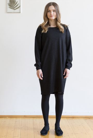 Amie knit dress | anthracite