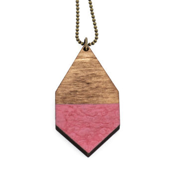 Diamante necklace big | dark wood/hammered rosewood