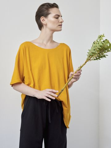 Building Block oversized tee | marigold