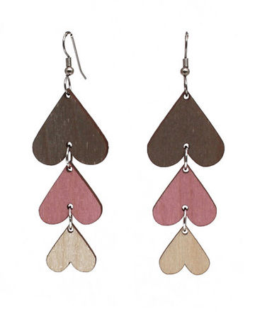 Wish I Was Your Lover earrings | grey/rose/wood
