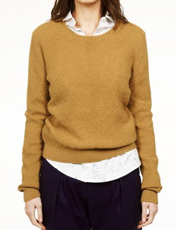 Genia knit sweater | gold