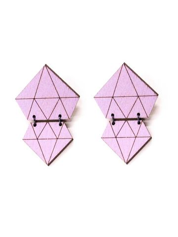 Diamond earrings | amethyst
