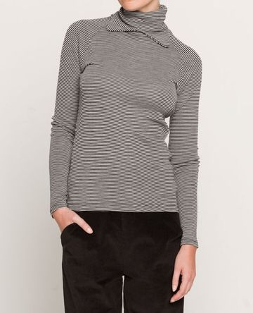 Pihla polo shirt | grey wool silk