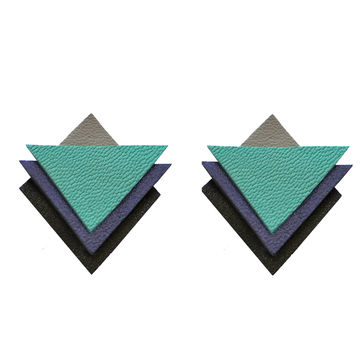 Special earrings | turquoise/blue/black