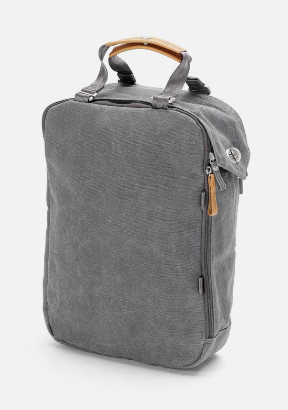 Reppu Vai Laukku Lukioon : Qwstion daypack laukku reppu washed grey ethically
