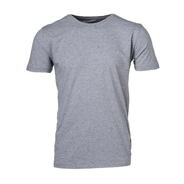 Basic Regular Fit O-Neck Tee | grey melange