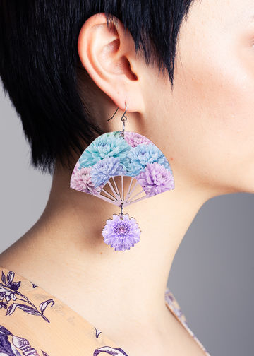 Flo earrings | sweet lila