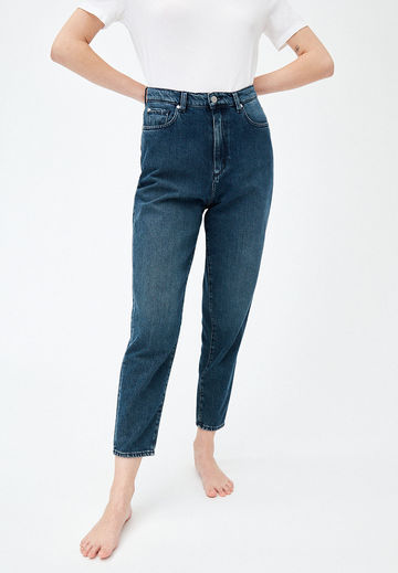 Mairaa mom fit jeans | stone wash