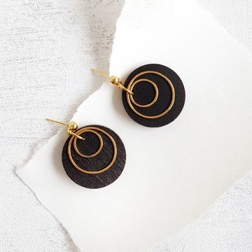 Pallot earrings | musta / kulta