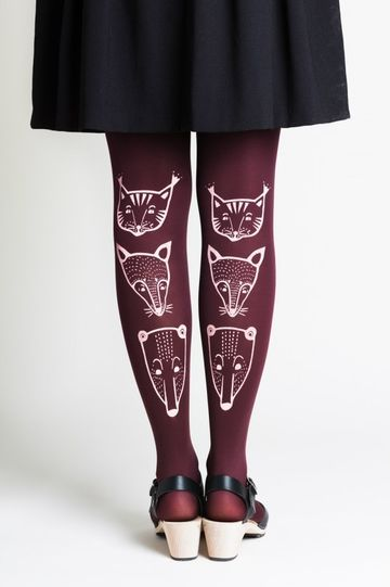 Toteemieläin tights 70den | red wine