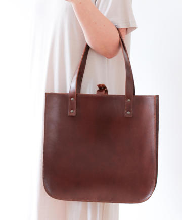 SILVIA tote bag | brown