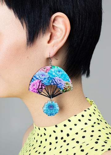 Flo earrings | lagoon blue