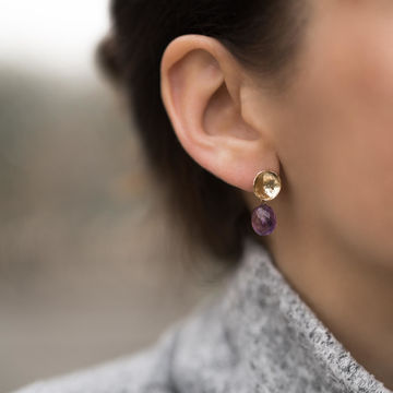 Maddie earrings | amethyst gold