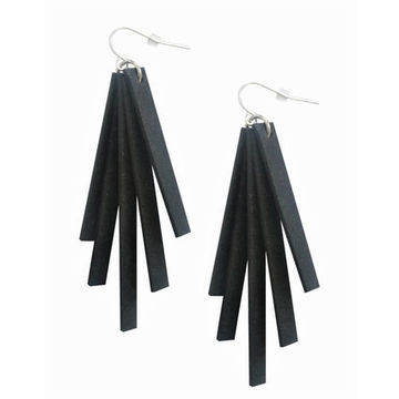 Säde earrings | black