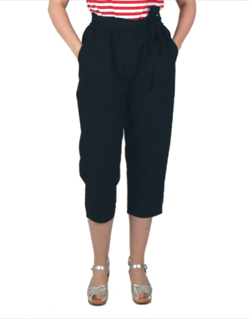 Linen trousers | black