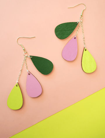 Pisara earrings short | Puutarhajuhla
