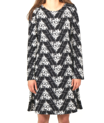 Bellflower dress | black&white