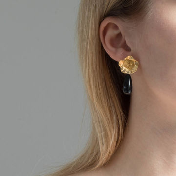 Käthe earrings onyx | gold