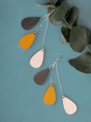 Drop earrings short | chamomile