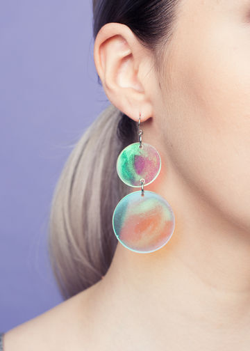 Soap bubble earrings