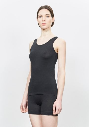 Wool top | black