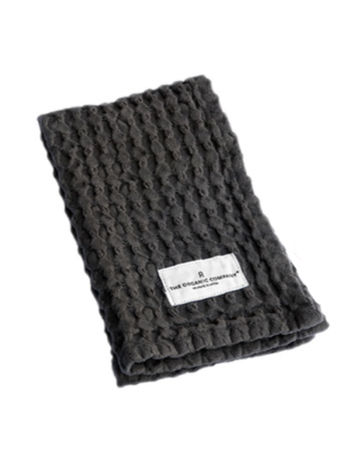 Big waffle kitchen and wash cloth | dark grey