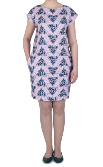 Wildflowers dress | pink/navy