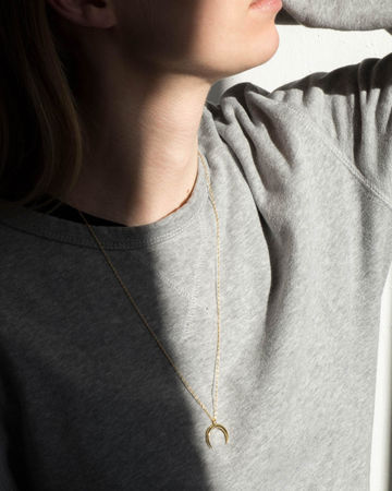 Indigo unisex necklace | gold