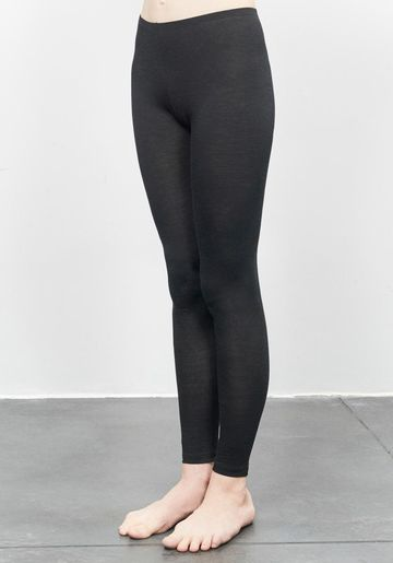 Women's merino wool long underpants | black