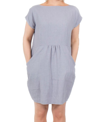 Linen tulip dress | lilac grey