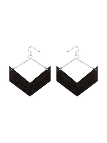 Aztec earrings | black