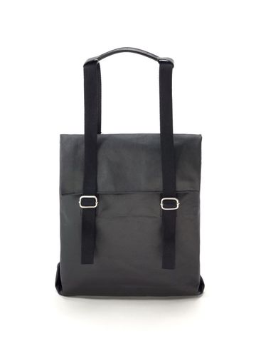 Small tote | organic jet black