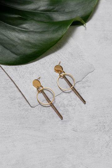 Geometria earrings | kulta