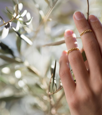 Oliv midi ring | gold