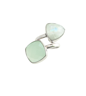 Heli chalcedony ring | silver
