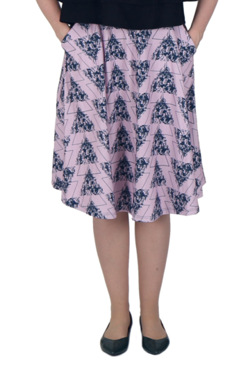 Wildflowers skirt | pink/navy