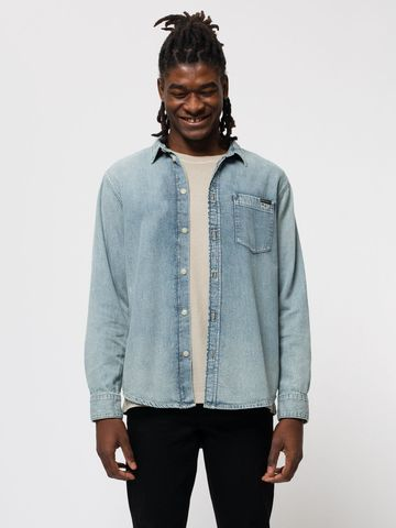 Albert light denim shirt | structure