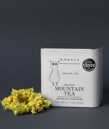 Luomutee metallirasiassa | mountain tea