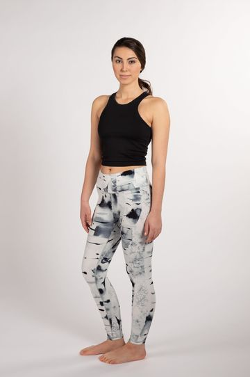 Soahki silver birch leggings | black