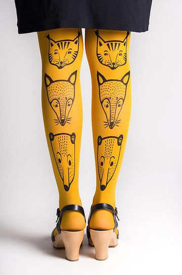 Toteemieläin tights 70den | yellow