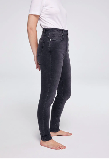 Ingaa high waist skinny jeans | grey wash