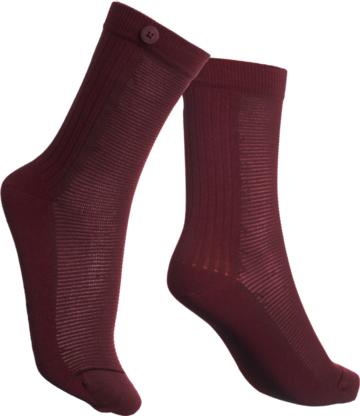 Socks 2 way rib | bordeaux