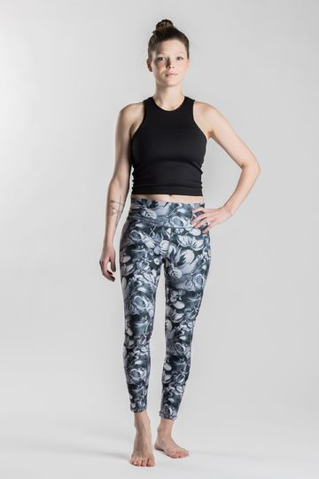 Gironlasta snowbed willow leggings | black