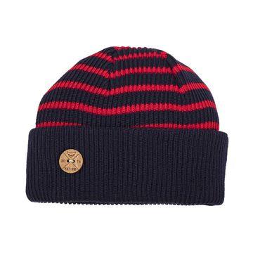 Timberjack stripe beanie | navy/red